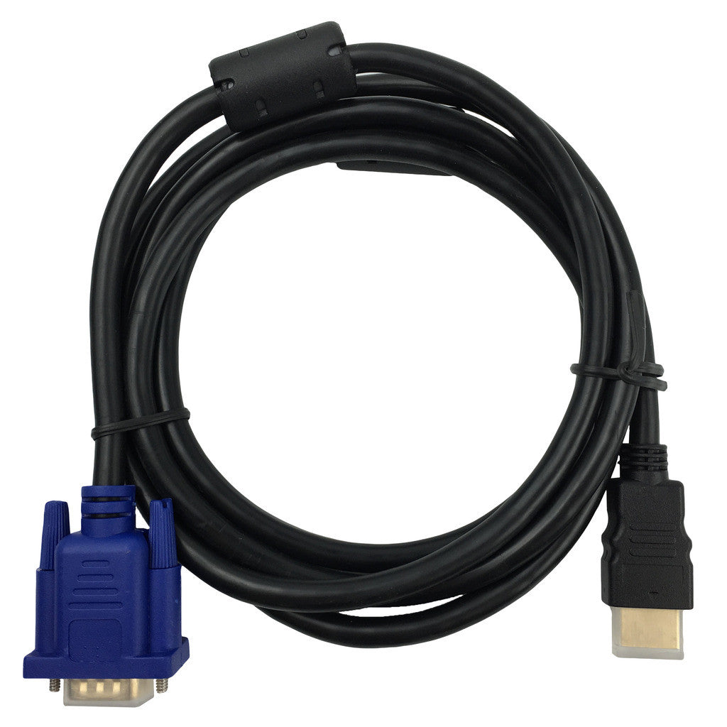 1080P Gold Plated HDMI to VGA 15Pin Male Cable Adapter Lead for HDTV LCD