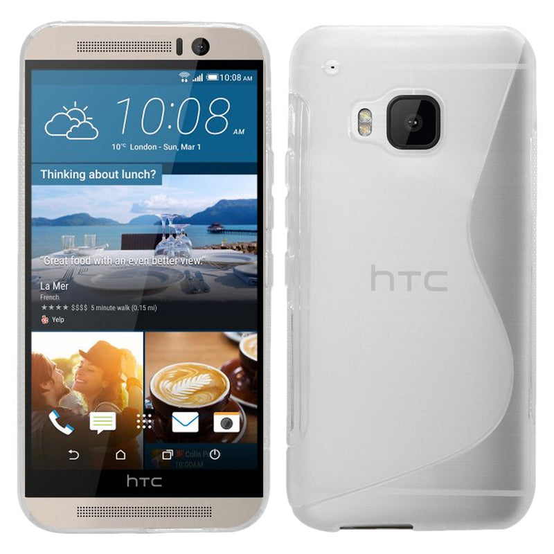 S-Curve Clear Soft Gel Case for HTC ONE M9