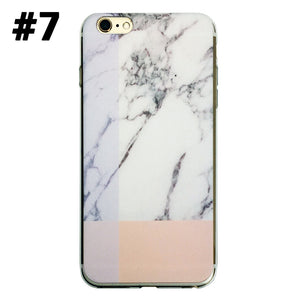 Marble Rock Pattern Thin Soft Gel Case for Apple iPhone 7 Plus