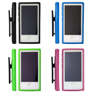 Soft Gel Case with Belt Clip for Apple iPod Nano 7