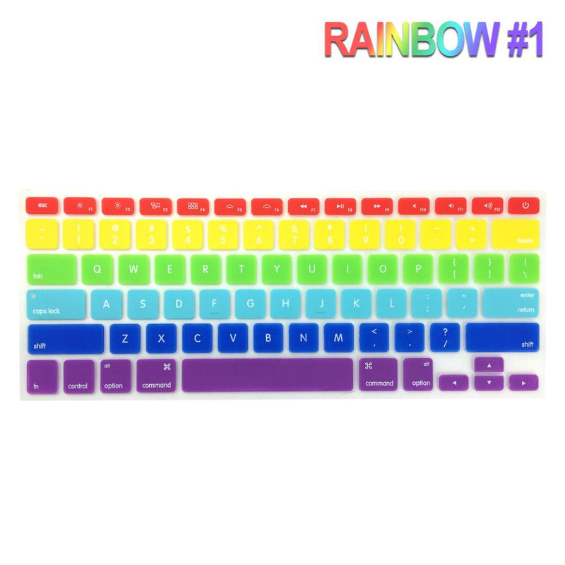 "Silicone Keyboard Outline Cover Protector for Apple MacBook Pro 13"", 15"", & 17"" inch"