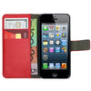 Leather Flip Wallet and Stand Case For Apple iPhone 5 / 5S