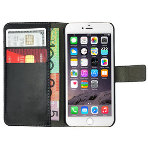 Leather Flip Wallet and Stand Case For Apple iPhone 6 & 6S
