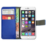 Leather Flip Wallet and Stand Case For Apple iPhone 6 Plus / 6S Plus