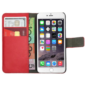 Leather Flip Wallet and Stand Case For Apple iPhone 8