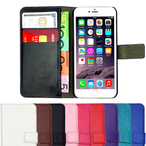 Leather Flip Wallet and Stand Case For Apple iPhone 7 Plus