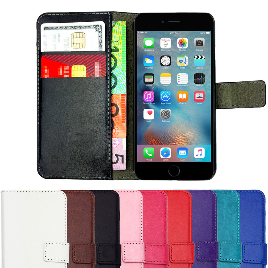 Leather Flip Wallet and Stand Case For Apple iPhone X
