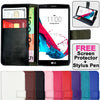 Leather Flip Wallet and Stand Case for LG G3