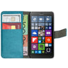 Leather Flip Wallet and Stand Case for Nokia Lumia 630 & 635