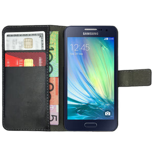 Leather Flip Wallet and Stand Case for Samsung Galaxy ACE 3