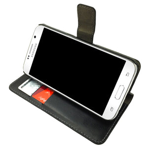 Leather Wallet Case Magnetic Flip Gel Cover for Samsung Galaxy J1