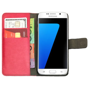 Leather Flip Wallet and Stand Case For Samsung Galaxy S8 Plus