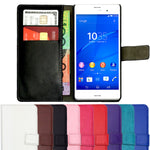 Leather Flip Wallet and Stand Case For SONY Xperia Z5 Compact