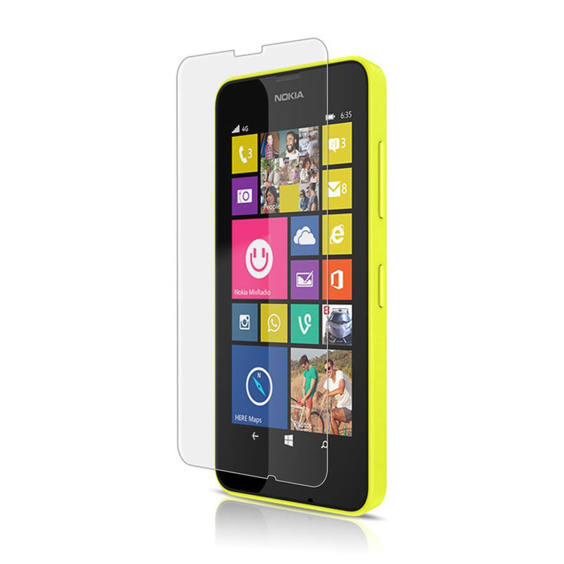 Tempered Glass Scratch Resistant Screen Protector for Nokia Lumia 630 & 635