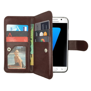 Leather Wallet Case Magnetic Flip Gel Cover for Samsung Galaxy S8