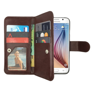Leather Wallet Case Magnetic Flip Gel Cover for Samsung Galaxy S5