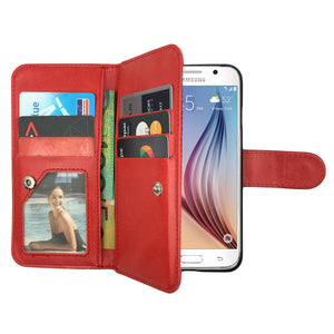 Leather Wallet Case Magnetic Flip Gel Cover for Samsung Galaxy S4