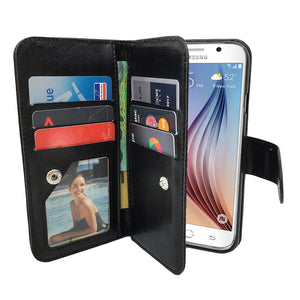 Leather Wallet Case Magnetic Flip Gel Cover for Samsung Galaxy S3