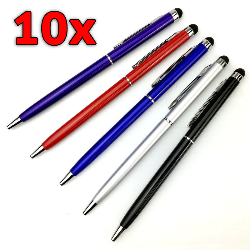 10 x Capacitive Touch Screen Stylus & Ball Point Ink Pen