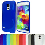 S-Curve Clear Soft Gel Case for Samsung Galaxy S5