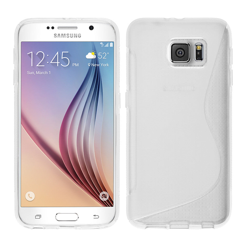 new product 56f4e f1705 S-Curve Clear Soft Gel Case for Samsung Galaxy S6