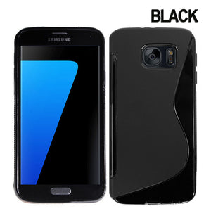 S-Curve Clear Soft Gel Case for Samsung Galaxy S7
