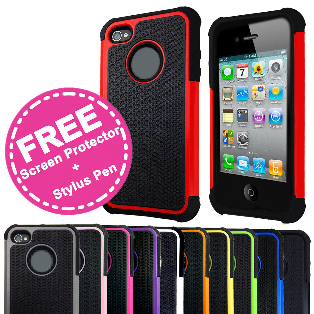 Shockproof Heavy Duty Case for Apple iPhone 4S / 4