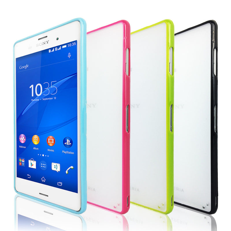 Hard Back Cover and Soft Gel Sided Case for Sony Xperia Z3