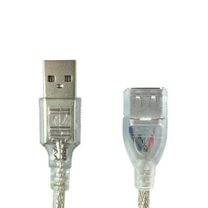 USB 2.0 Extension Data Cable Cord for PC & Mac Computers 1.5 Meter