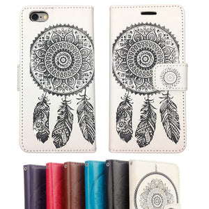 Dreamcatcher Leather Flip Wallet and Stand Case For Samsung Galaxy S7 Edge