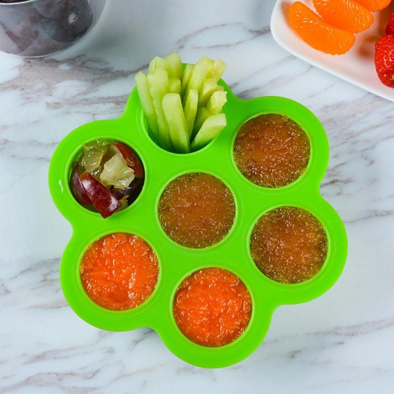 Silicone Baby Food Container 7 Holes