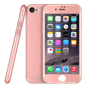 360 Hybrid Shockproof Case Cover Tempered Glass for Apple iPhone 8 Plus