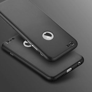 360 Hybrid Shockproof Case Cover Tempered Glass for Apple iPhone 7 Plus