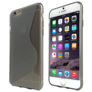 S-Curve Clear Soft Gel Case for Apple iPhone 6 Plus & 6S Plus