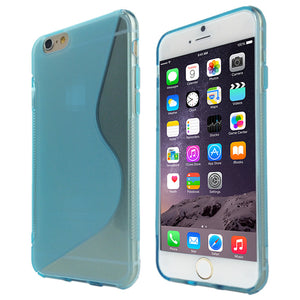 S-Curve Clear Soft Gel Case for Apple iPhone 8 Plus