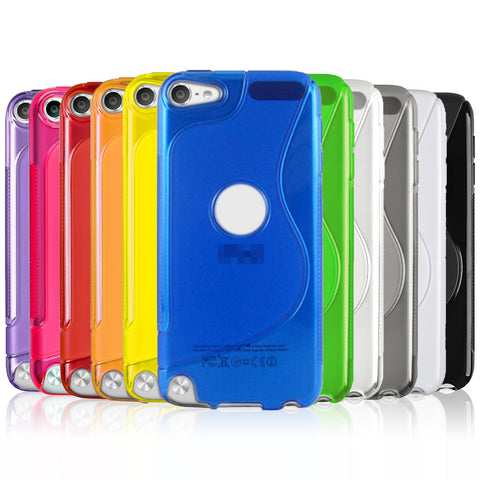 S-Curve Clear Soft Gel Case for Apple iPod Touch 6