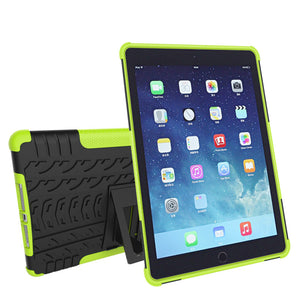 Shockproof Heavy Duty Tough Armor Cover Stand Case for Apple iPad Mini 3, 2 & 1