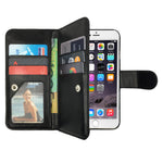 Leather Wallet Case Magnetic Flip Cover for Apple iPhone 8 Plus