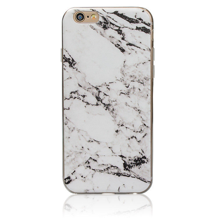 Marble Rock Pattern Thin Soft Gel Case for Apple iPhone 8