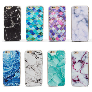 Marble Pattern Thin Soft Gel Case for Apple iPhone 6 Plus & 6S Plus