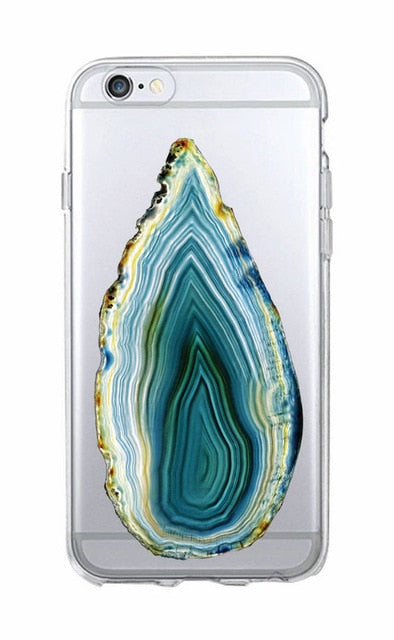 Crystal Stone Agate Gel Case for iPhone