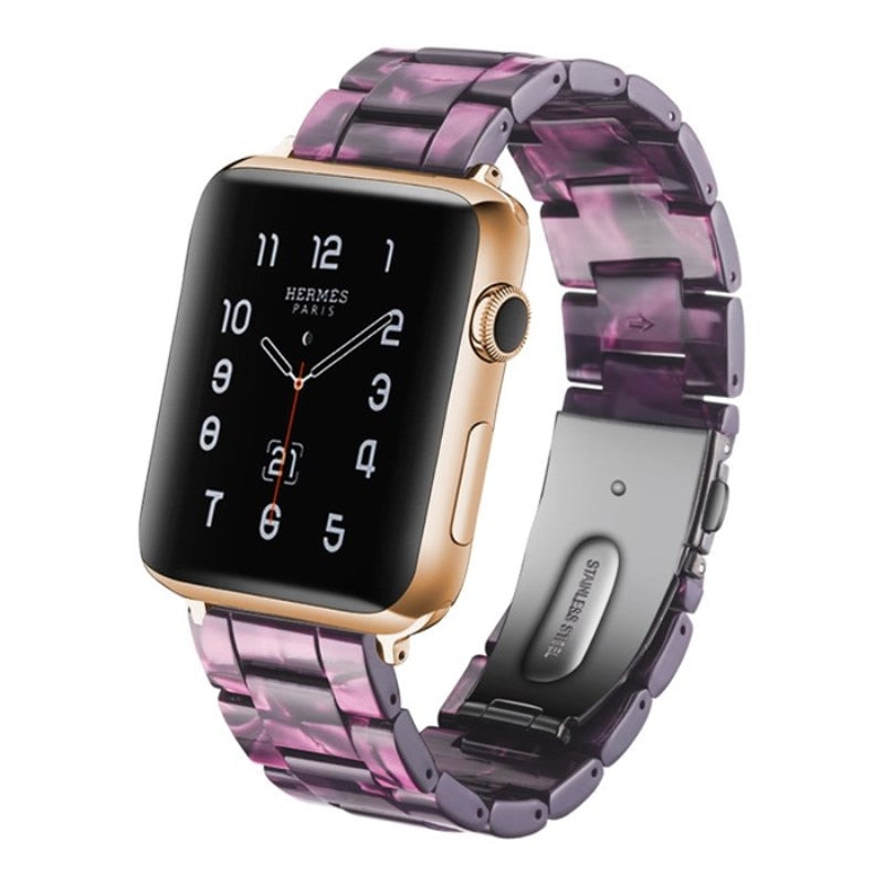 Purple Resin Replacement Watch Band For Apple Watch 38mm or 42mm