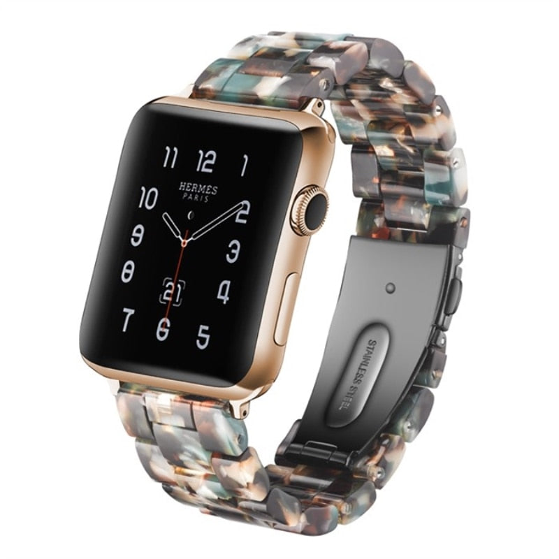 Camouflage Resin Replacement Watch Band For Apple Watch 38mm or 42mm