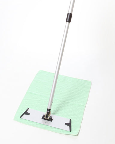 VERDAY Step-Back Mop System - Includes 2 Large Waffle Floor Cloths