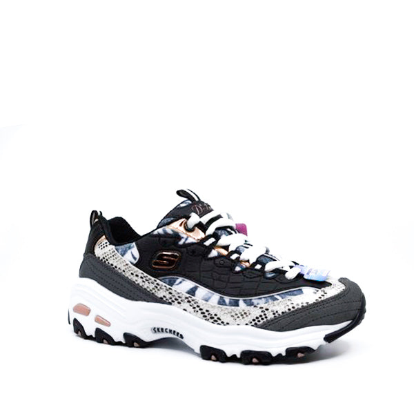 SKECHERS DLITES RUNWAY READY BLK/ROSE