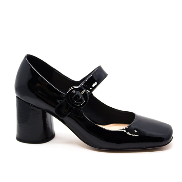 TOP END GUAMY BLACK PATENT