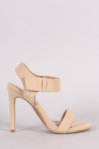 Anne Michelle Ankle Strap Open Toe Heel