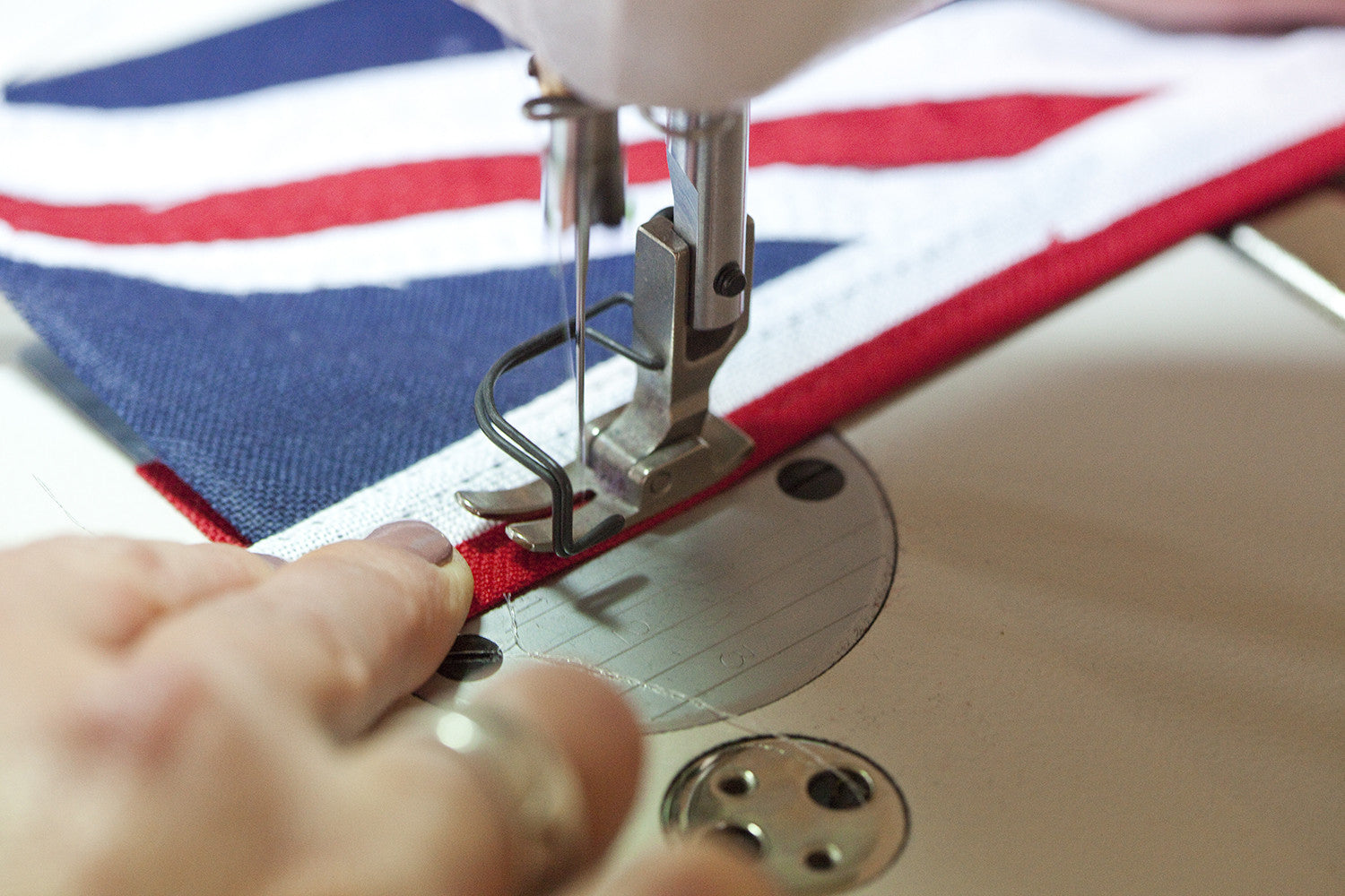Sewing a Union Jack Flag
