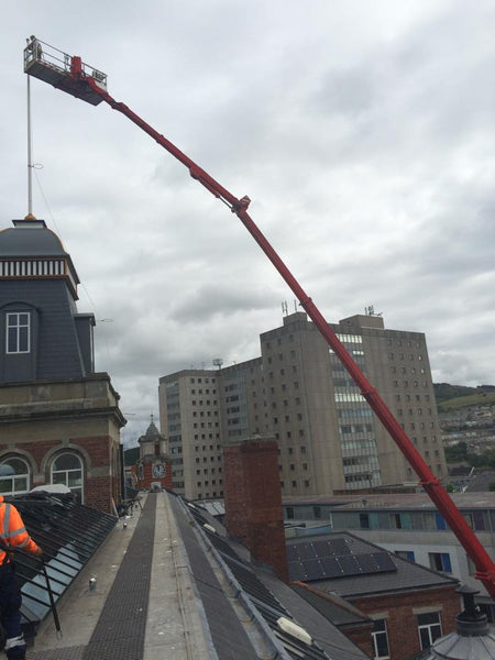 Alex House, UWTSD flagpole repairs