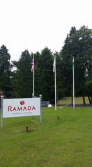 Flagpole at Ramada Hotel by Red Dragon Flagmakers